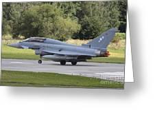 German Eurofighter Trainer Taking Greeting Card