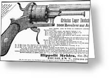 German Revolver, 1880 Greeting Card