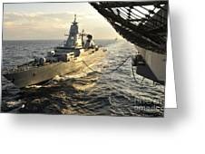 German Sachsen-class Frigate Hessen Greeting Card