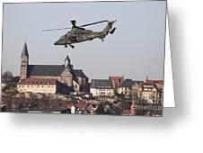 German Tiger Eurocopter Flying Greeting Card
