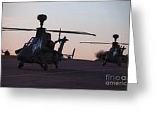 German Tiger Eurocopters At Stendal Greeting Card