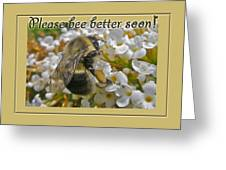 Get Well Card - Bumblebee Greeting Card