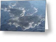 Geyser Basin Cloud Reflection Greeting Card