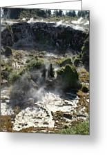 Geyser Basin Greeting Card