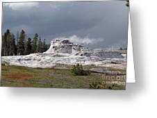 Geyser In Yellowstone Greeting Card