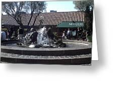 Ghiradelli Square Mermaid Fountain Greeting Card