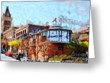 Ghirardelli Chocolate Factory San Francisco California . Painterly . 7d14093 Greeting Card