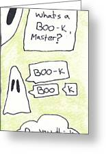 Ghost Bookmark Greeting Card