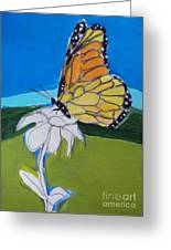 Ghost Flower And Butterfly Greeting Card