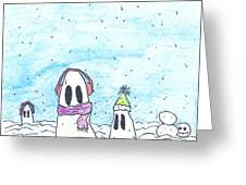Ghost In Snow Greeting Card