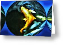 Ghost Koi Greeting Card by Don Mann
