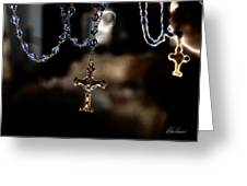 Ghost Of A Rosary Greeting Card
