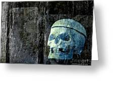 Ghost Skull Greeting Card