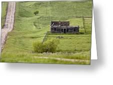 Ghost Town Galilee Saskatchewan Greeting Card
