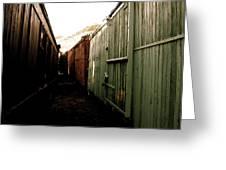 Ghost Train Yard Greeting Card