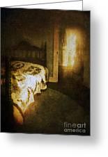 Ghostly Figure In Hallway Greeting Card by Jill Battaglia