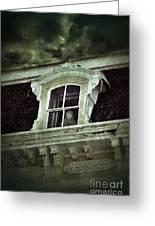 Ghostly Girl In Upstairs Window Greeting Card by Jill Battaglia