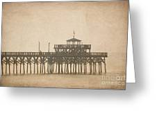 Ghostly Pier Greeting Card