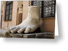 Giant Foot From Emperor Constantine Statue. Capitoline Museum. R Greeting Card
