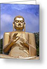 Giant Gold Bhudda Greeting Card by Jane Rix