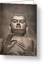 Giant Gold Buddha Vintage Greeting Card