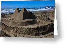Giant Sand Castle Greeting Card