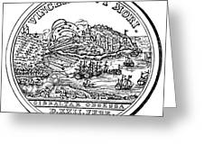 Gibraltar: Medal, 1727 Greeting Card