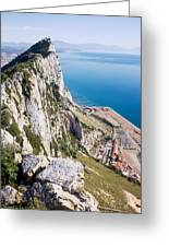 Gibraltar Rock And Mediterranean Sea Greeting Card