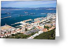 Gibraltar Town And Bay Greeting Card
