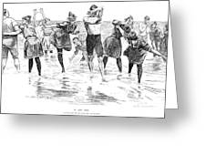 Gibson: Bathing, 1892 Greeting Card