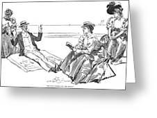 Gibson: Beach, 1900 Greeting Card