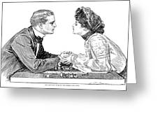 Chess Game, 1903 Greeting Card