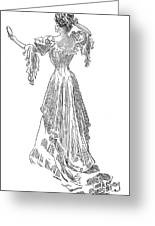 Gibson: Gibson Girl, 1903 Greeting Card