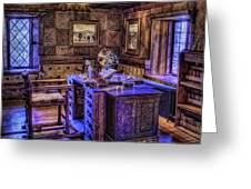 Gillette Castle Office Hdr Greeting Card