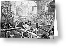 Gin Lane, William Hogarth Greeting Card