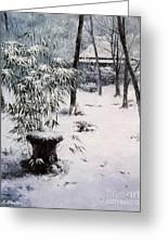Gioji Temple In Snowing Greeting Card