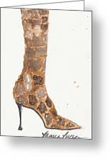 Giraffe Boot Greeting Card
