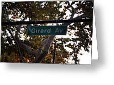 Girard Avenue In Philadelphia Greeting Card
