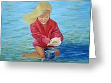 Girl At Beach #2 Greeting Card