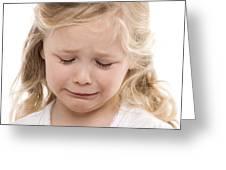Girl Crying Greeting Card