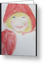 Girl In A Red Hood Greeting Card
