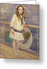 Girl In A Sailor Suit Greeting Card