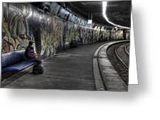 Girl In Station Greeting Card