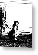 Girl On The Edge Of The Water Greeting Card