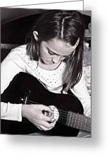 Girl With A Guitar  Greeting Card