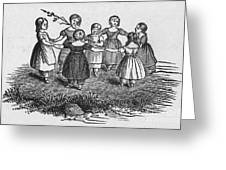 Girls Playing, 1844 Greeting Card