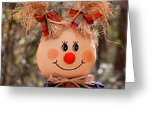 Girly Scarecrow Greeting Card