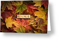 Give-autumn Greeting Card