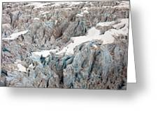 Glacial Crevasses Greeting Card