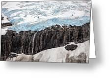 Glacial Edge Waterfall Greeting Card